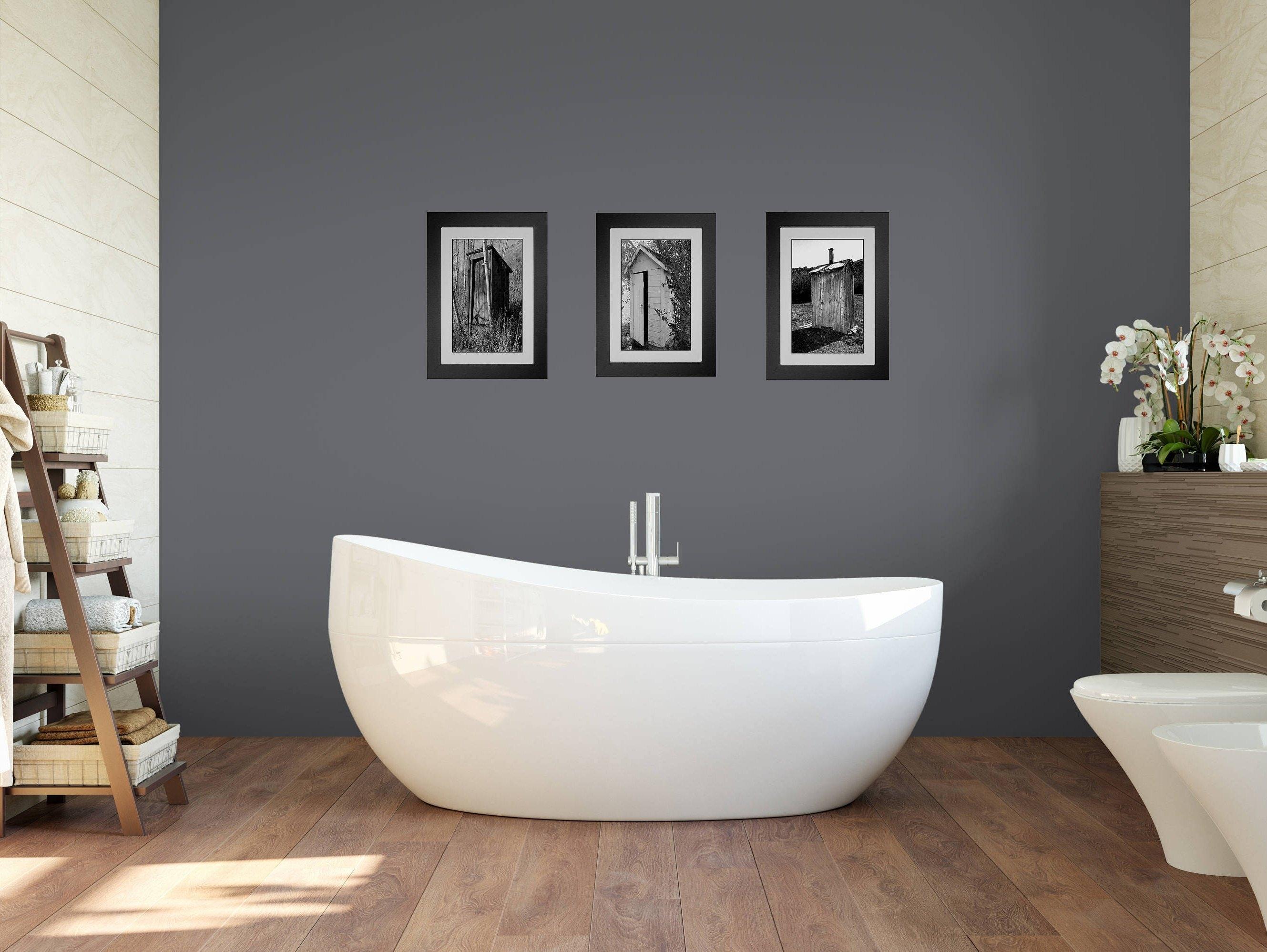 Funny Bathroom Art, Bathroom Wall Art, 3 Print Set, Framed Prints For Recent Bathroom Wall Art (View 7 of 15)