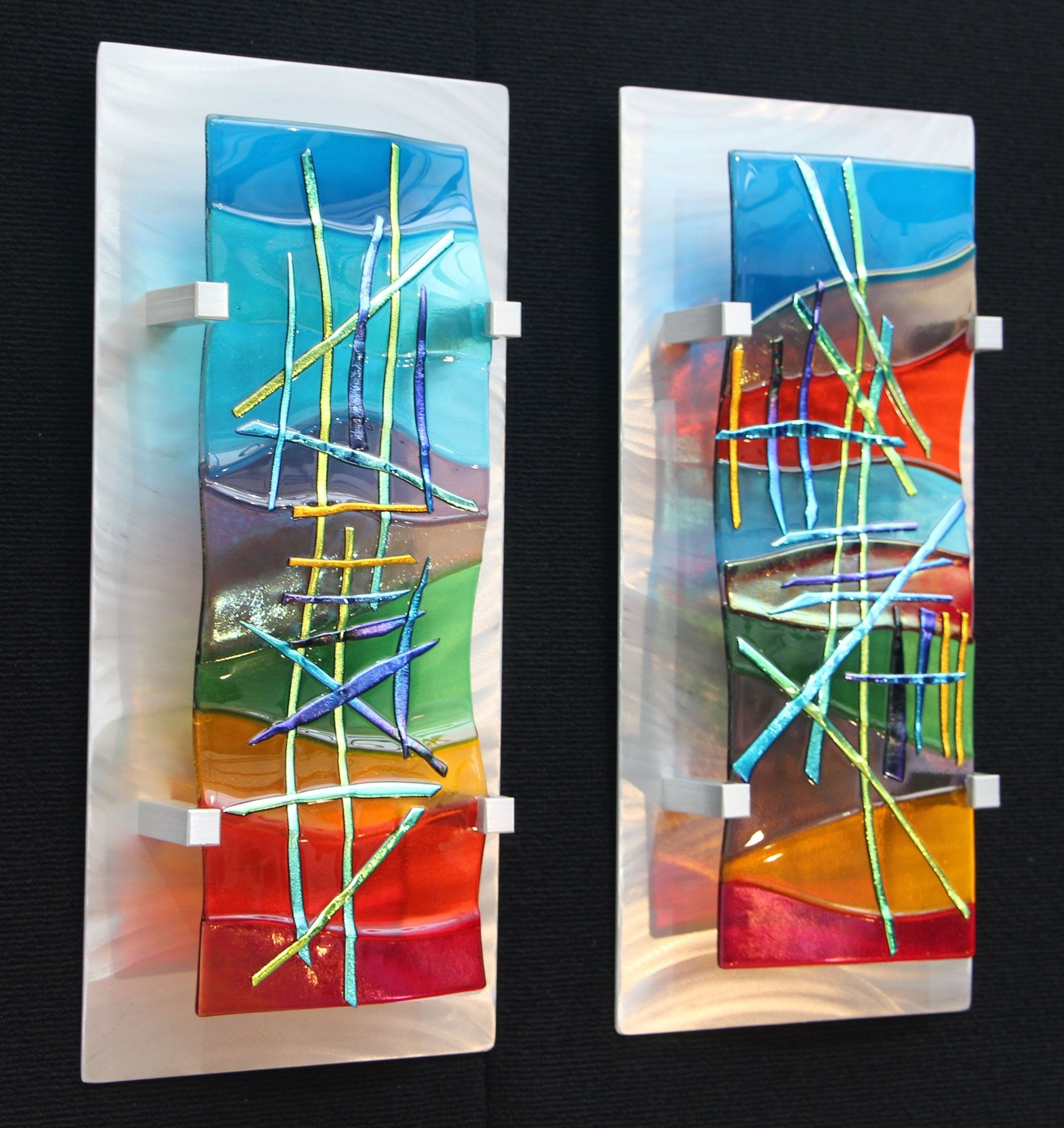 Fused Glass Wall Artfrank Thompson | Glass Ideas | Pinterest With Best And Newest Glass Wall Art (Gallery 3 of 15)