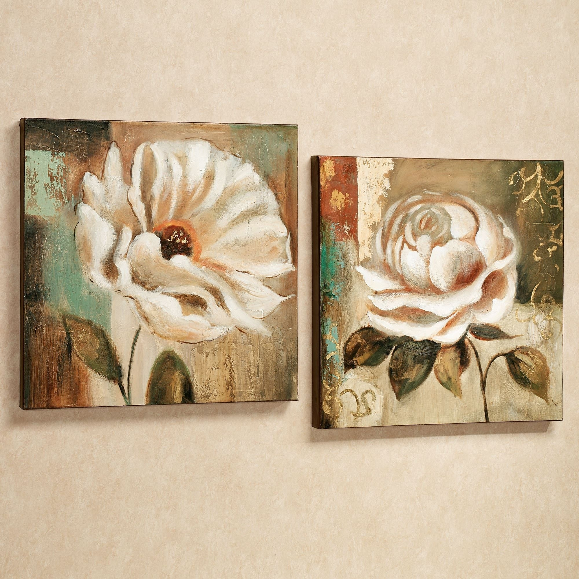 Garden Delicacies Floral Canvas Wall Art Set | Art | Pinterest Within Latest Floral Canvas Wall Art (View 10 of 20)