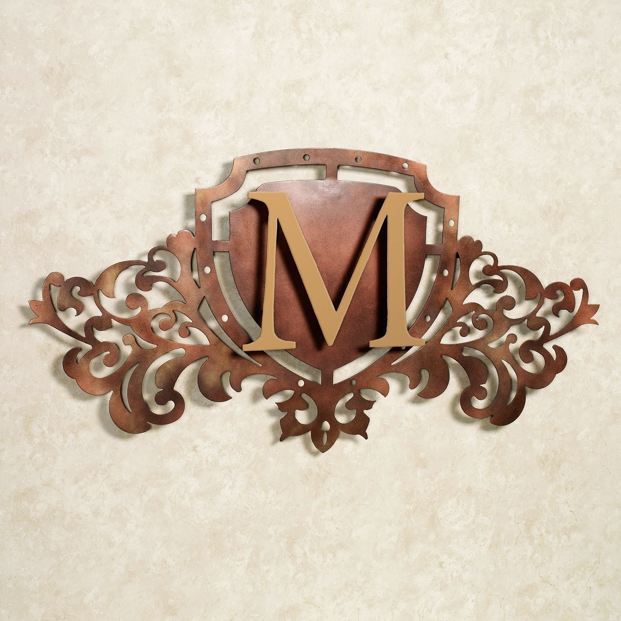 Generations Bronze Monogram Crest Metal Wall Art Sign With Best And Newest Bronze Wall Art (View 9 of 20)