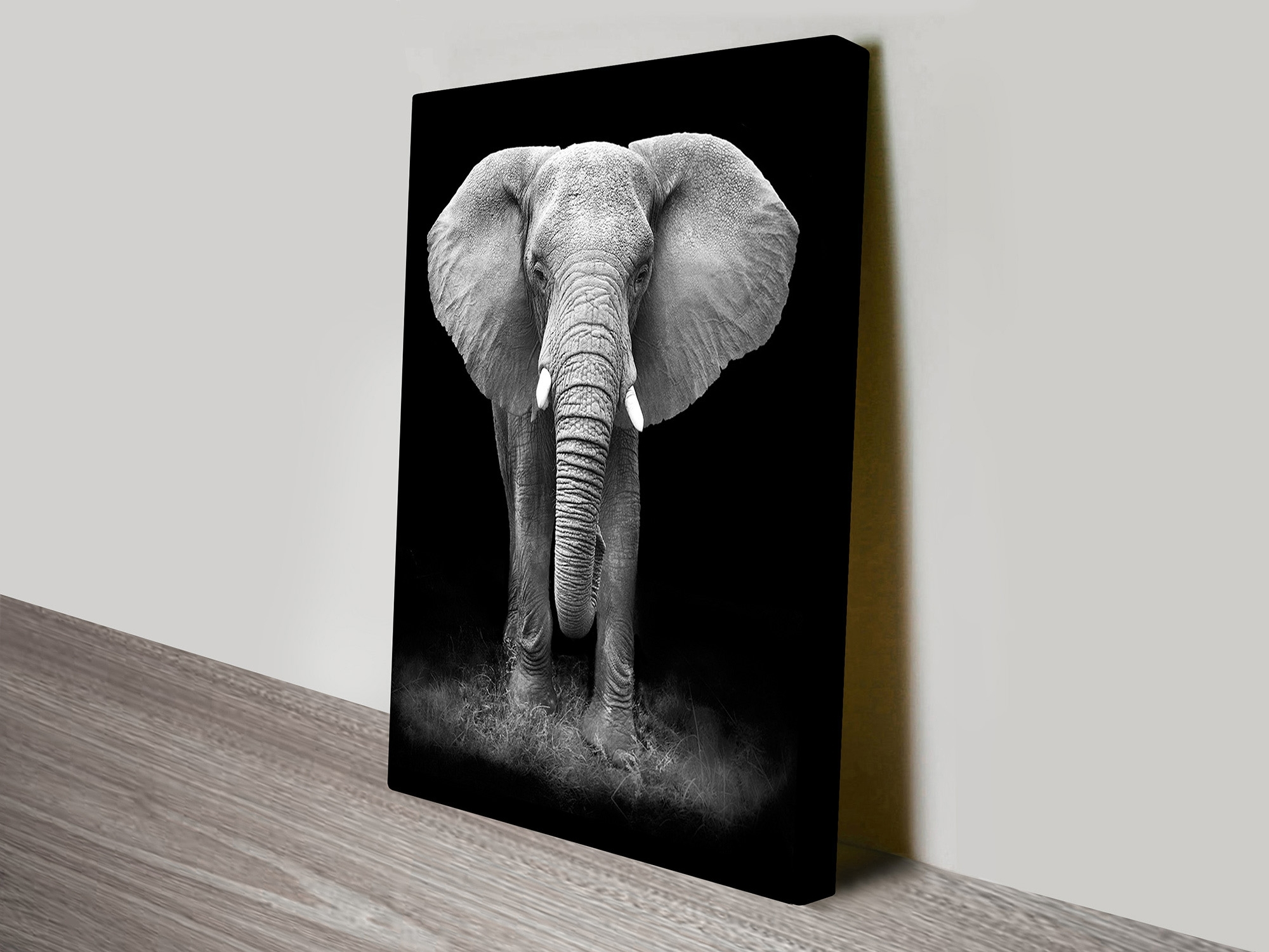 Gentle Giant Elephant Canvas Wall Art – Blue Horizon Prints With Regard To Most Popular Elephant Canvas Wall Art (View 12 of 20)