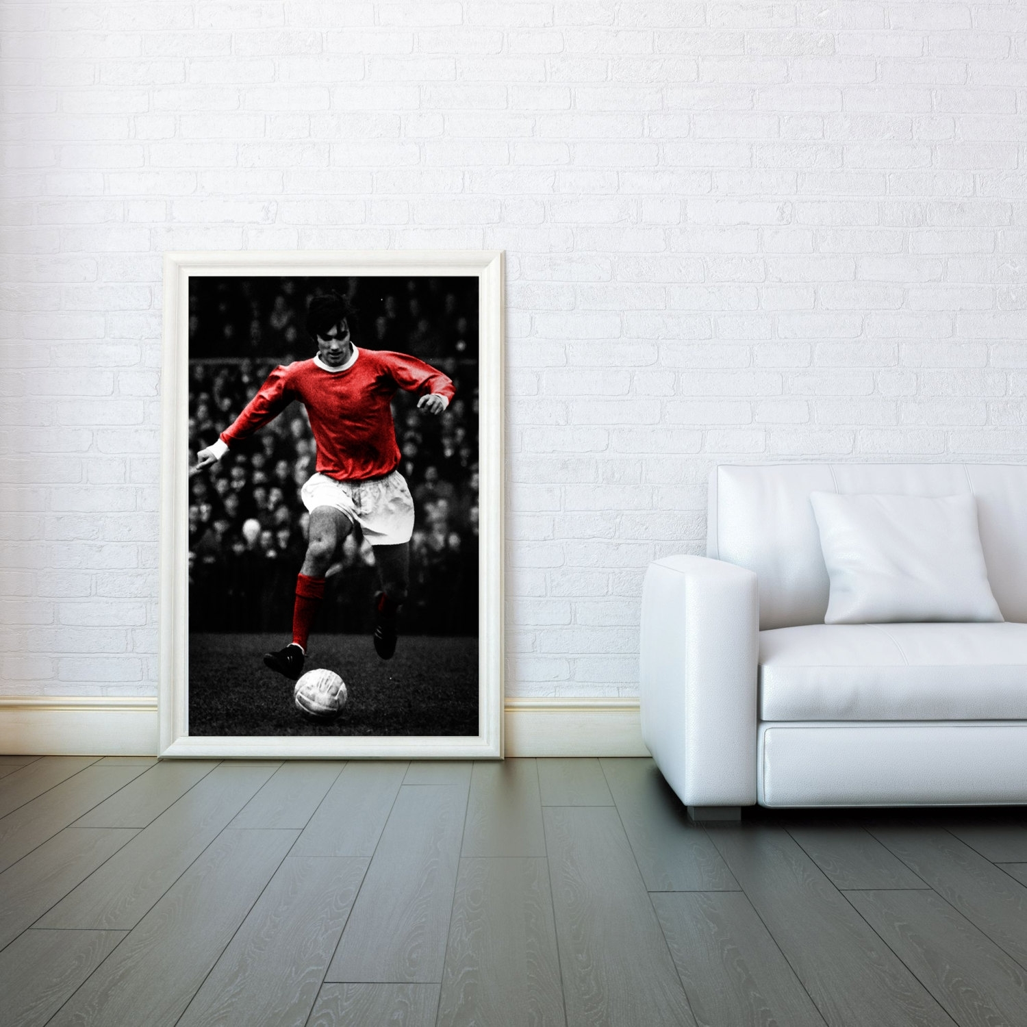 George Best Manchester United Decorative Arts Prints & Posters Wall With Regard To Best And Newest Black Wall Art (View 12 of 20)