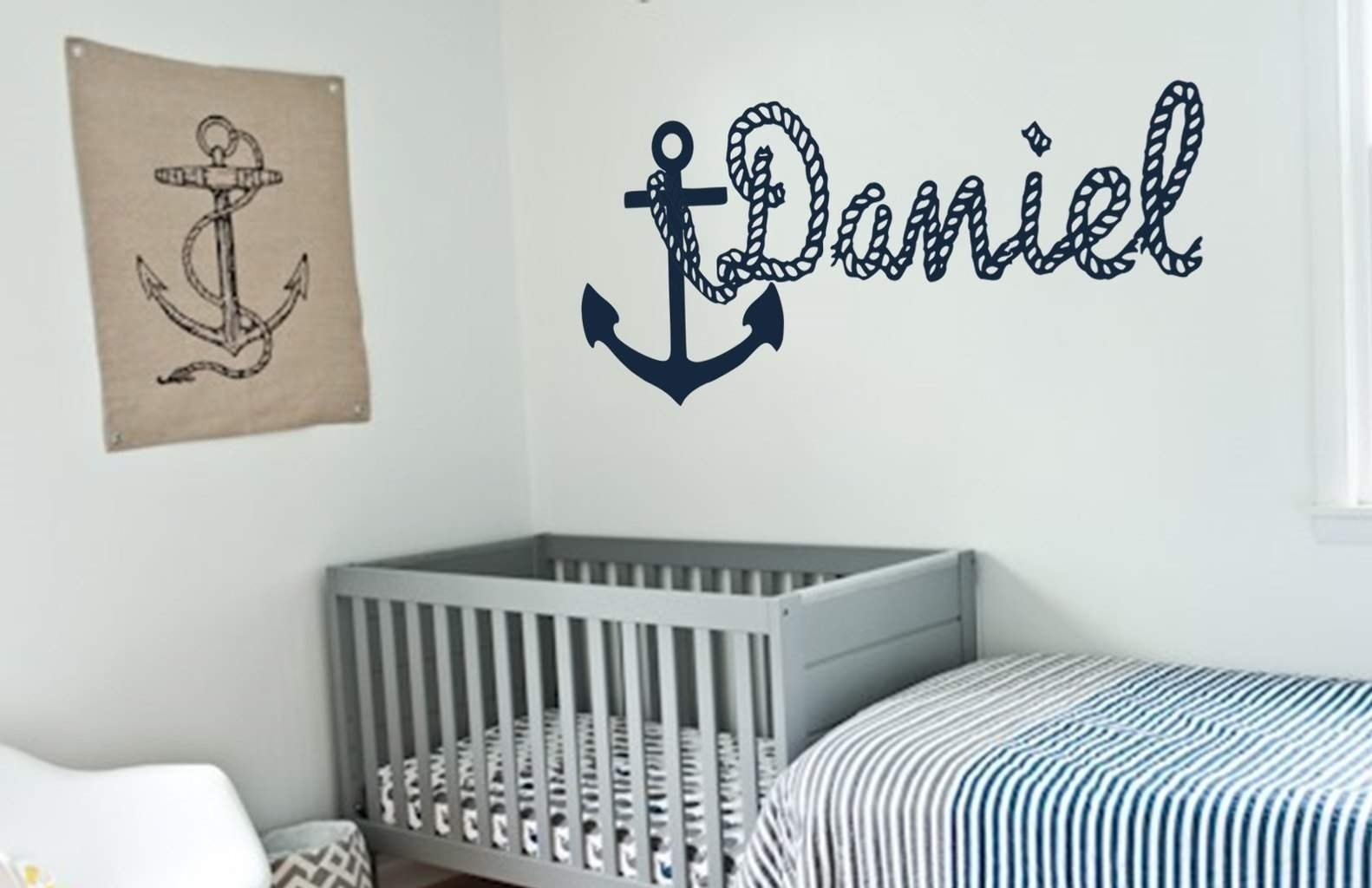 Get Personalized Wall Decal With Anchor Picture Pertaining To Best And Newest Name Wall Art (View 5 of 20)