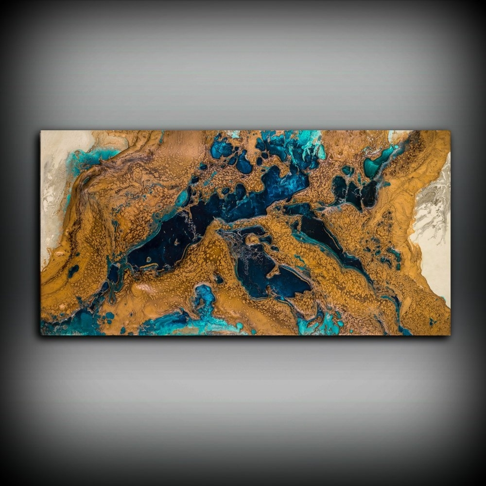 Giclee Abstract Fine Art Print From Original Acrylic Abstract With Regard To Latest Copper Wall Art (View 11 of 15)
