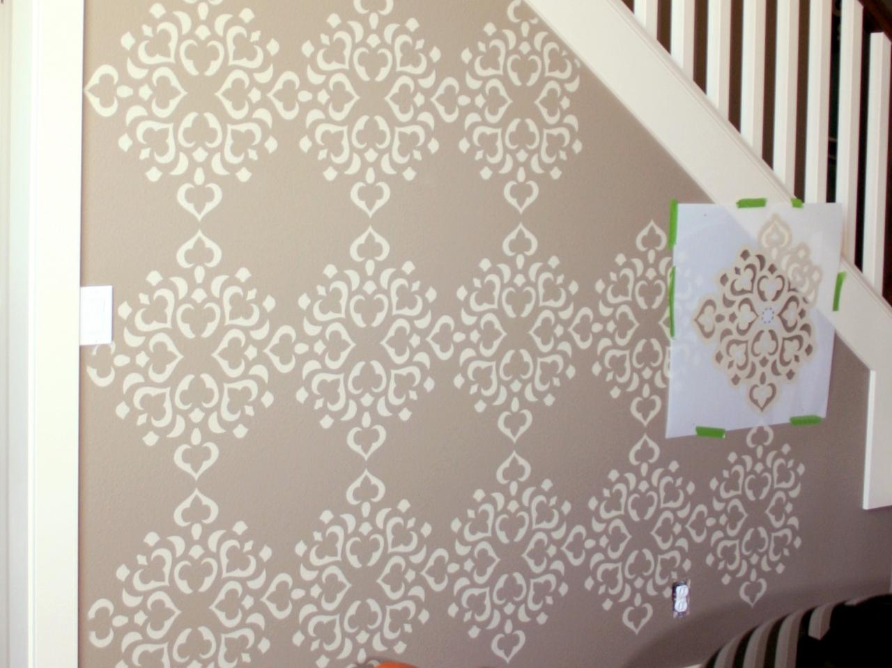 Give Your Home A Dramatic Look With The Help Of Wall Stencils Within Most Up To Date Stencil Wall Art (View 8 of 20)