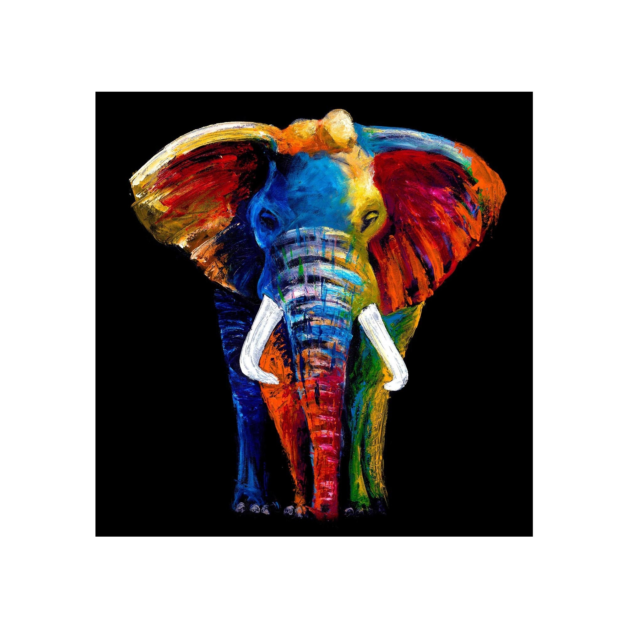 Glass Art | Majestic Elephant Wall Art Throughout Newest Elephant Wall Art (View 7 of 15)