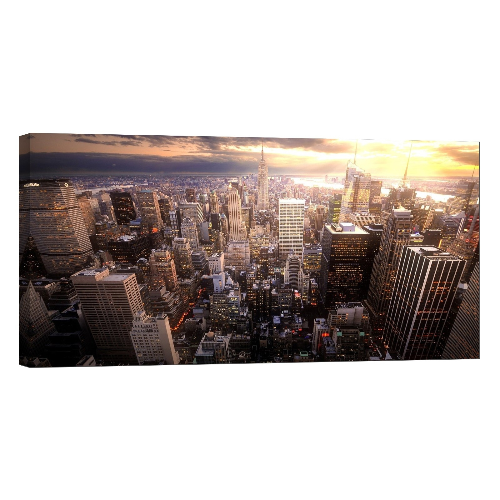 Glow In The Dark Canvas Wall Art Print, New York Skyline – Lightfairy Throughout Most Current New York Canvas Wall Art (Gallery 14 of 15)