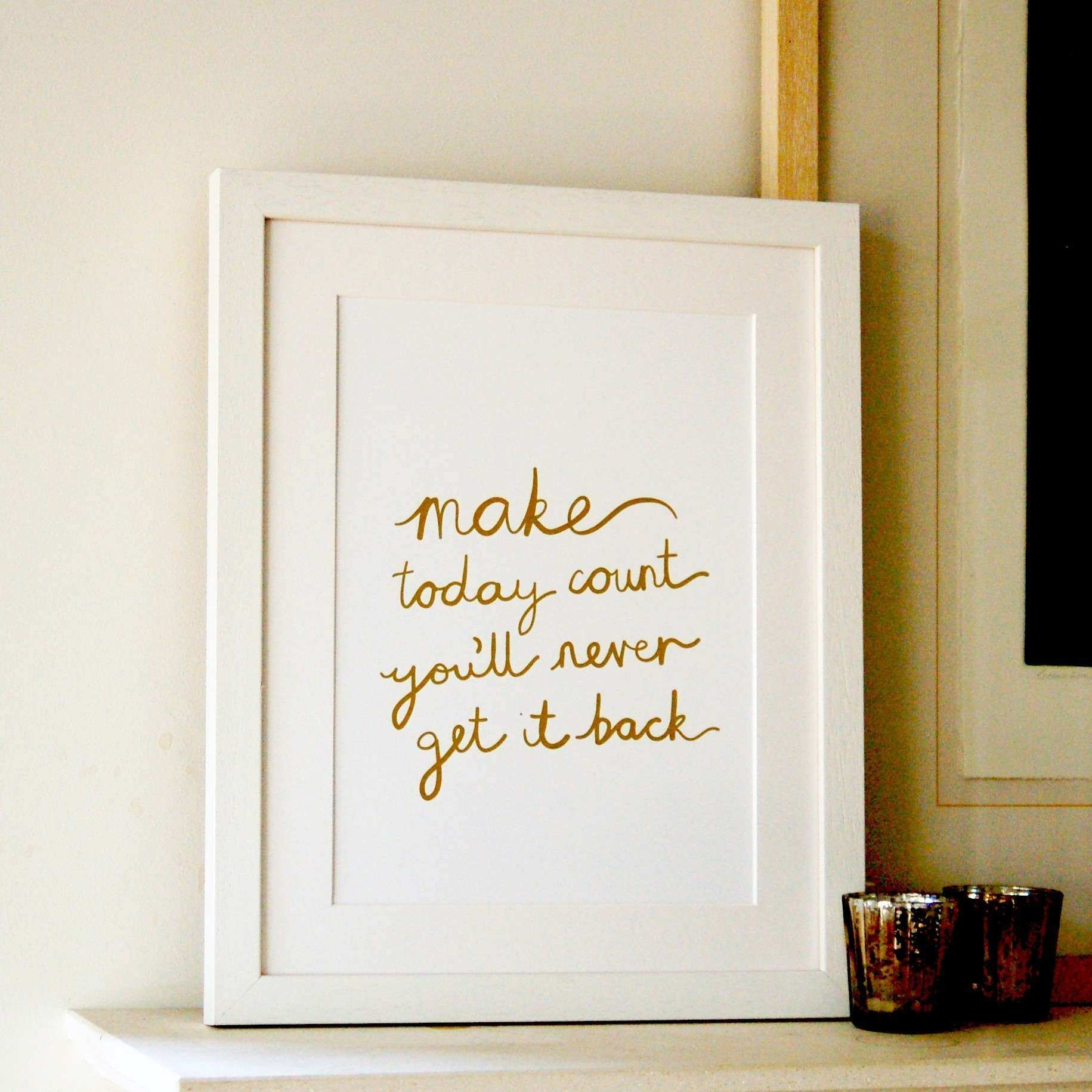 Featured Photo of Gold Foil Wall Art