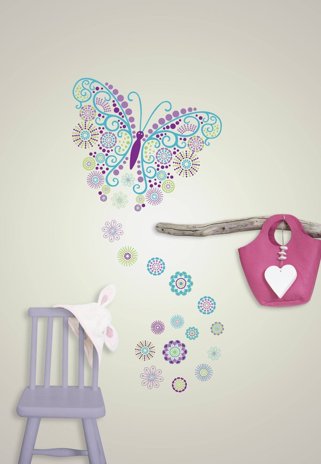 Gorgeous Butterfly Wall Art Sticker Kit For Best And Newest Butterfly Wall Art (View 12 of 15)