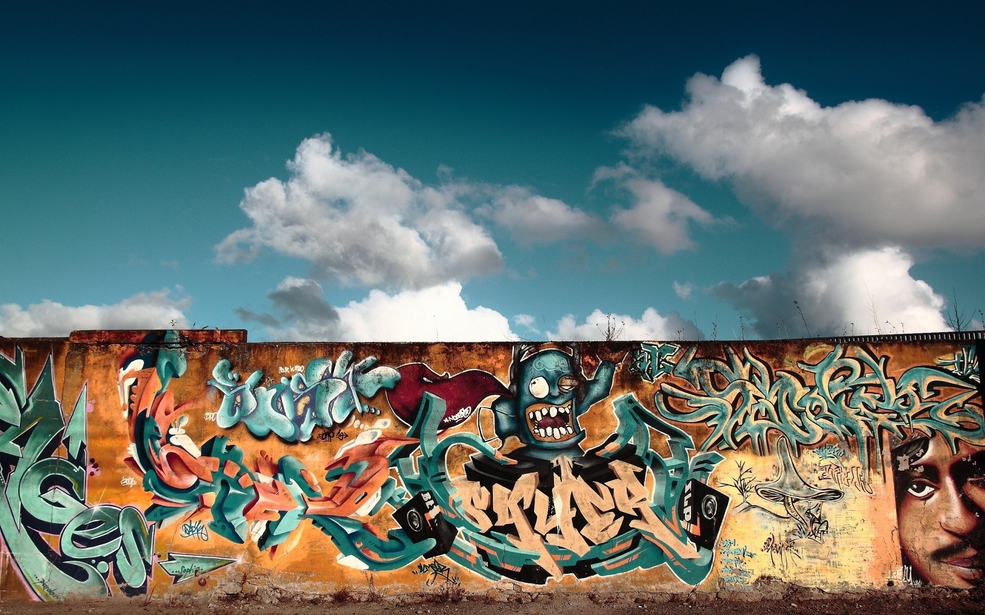 Graffiti Wall Art. Android Wallpapers For Free. Throughout Most Popular Graffiti Wall Art (Gallery 8 of 20)