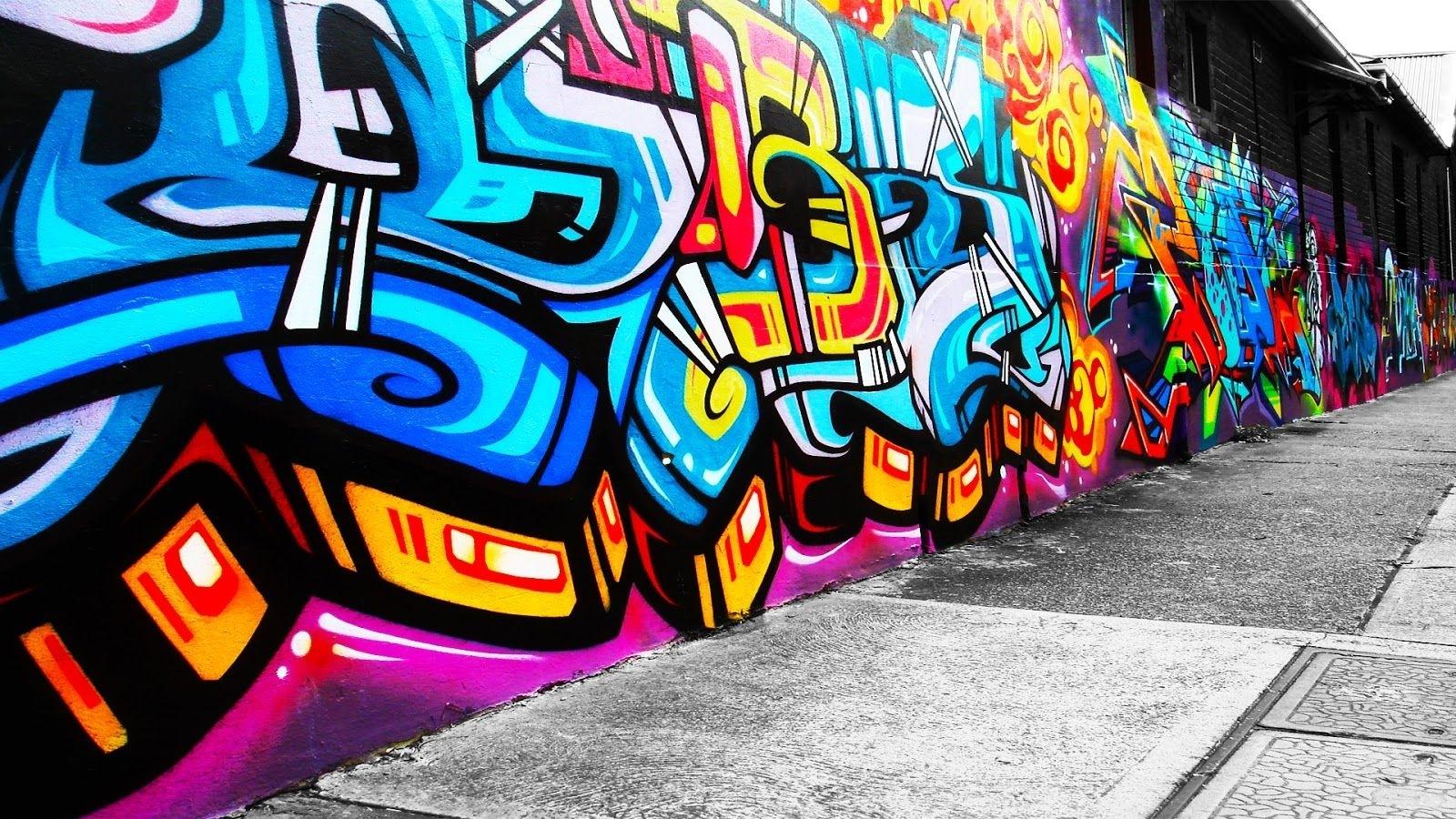 Graffiti Wall Art Background Wallpaper | Wall Art | Pinterest In Best And Newest Graffiti Wall Art (View 4 of 20)