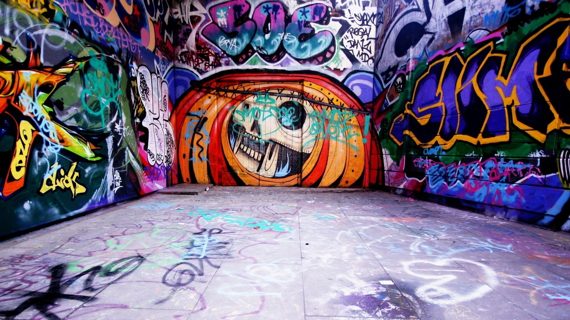 Graffiti Wall Art Wallpaper | Allwallpaper (View 6 of 20)