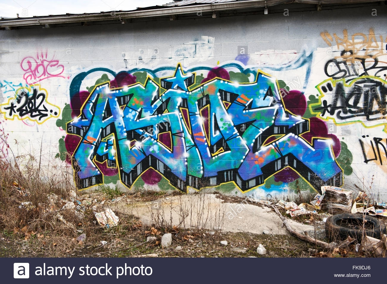 Graffiti Wall In Asheville, North Carolina Stock Photo: 97938574 – Alamy In Latest North Carolina Wall Art (View 5 of 20)