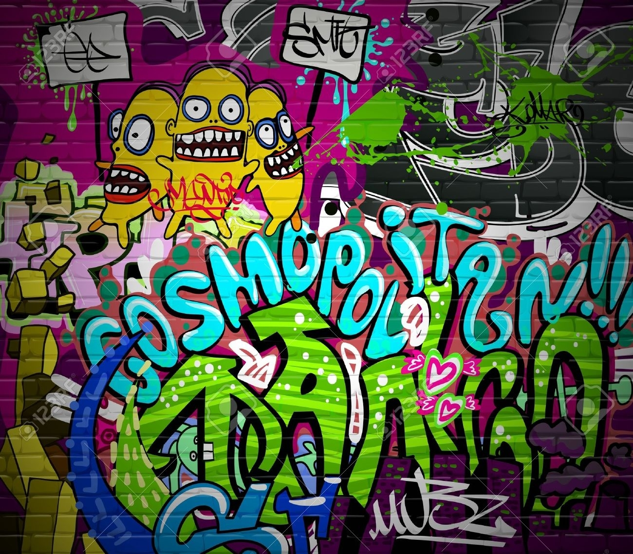 Graffiti Wall Urban Art Hintergrund Grunge Hip Hop Künstlerische Throughout Best And Newest Hip Hop Wall Art (Gallery 6 of 15)