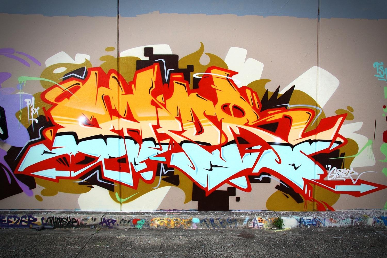 Graffitiandrew Bourke/sirum1 | Sirum Graffiti Wall Art 64 With Regard To Latest Graffiti Wall Art (View 12 of 20)