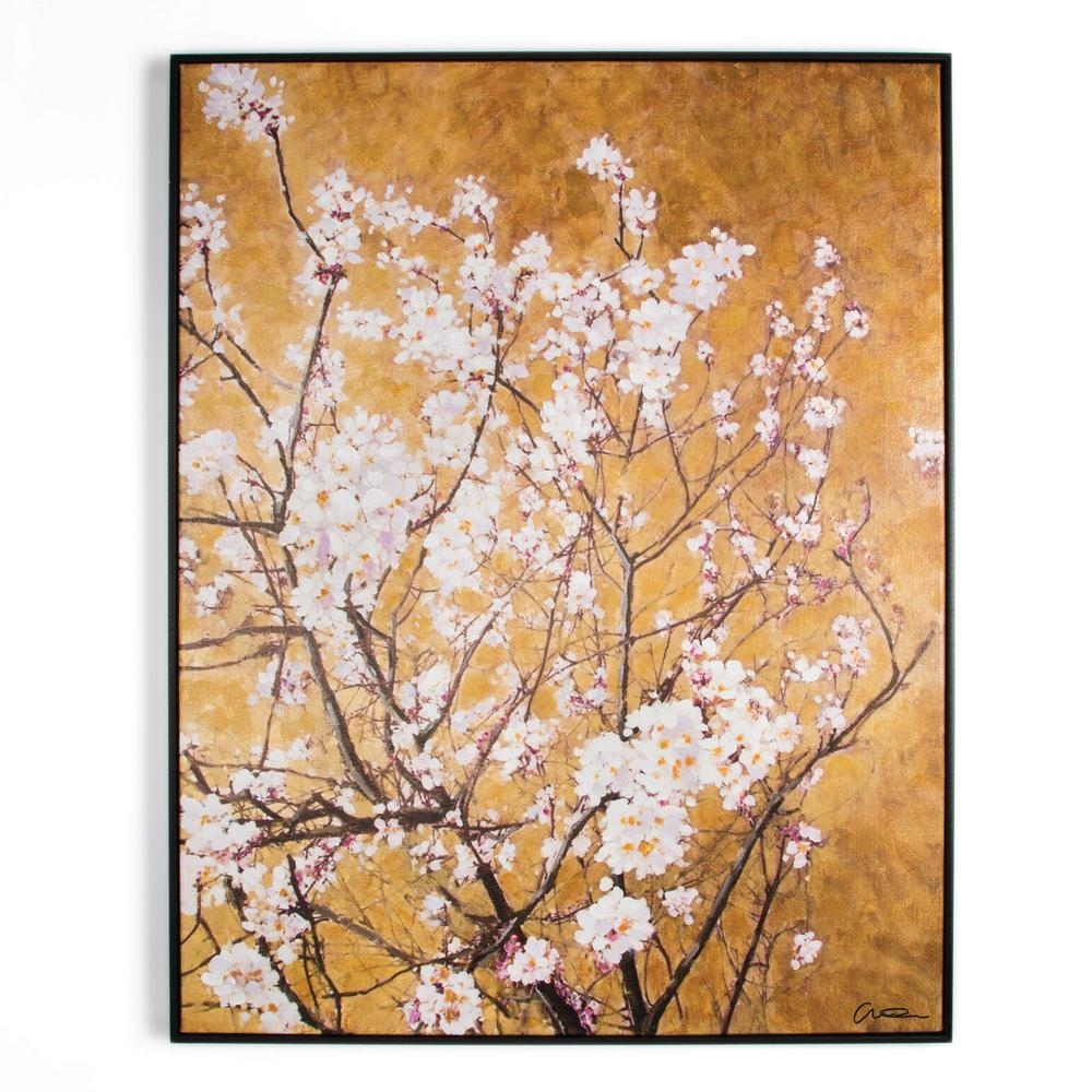 """Graham & Brown 35 In. X 28 In. """"oriental Blossom"""" Framed Printed Throughout Most Recently Released Oriental Wall Art (Gallery 7 of 20)"""