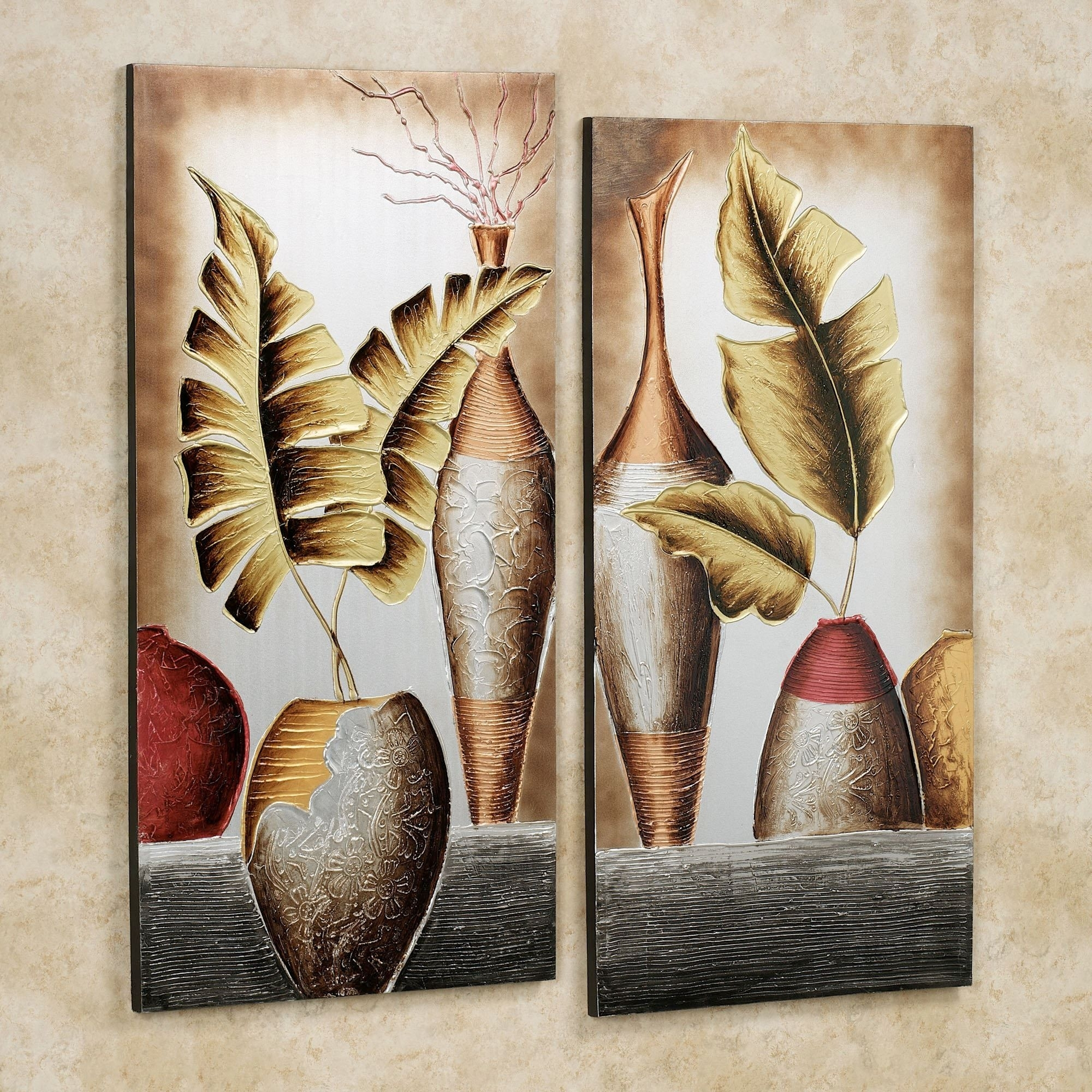 Grecian Pottery Canvas Wall Art Set | ???? ??????????? | Pinterest For Latest Canvas Wall Art Sets (Gallery 5 of 15)