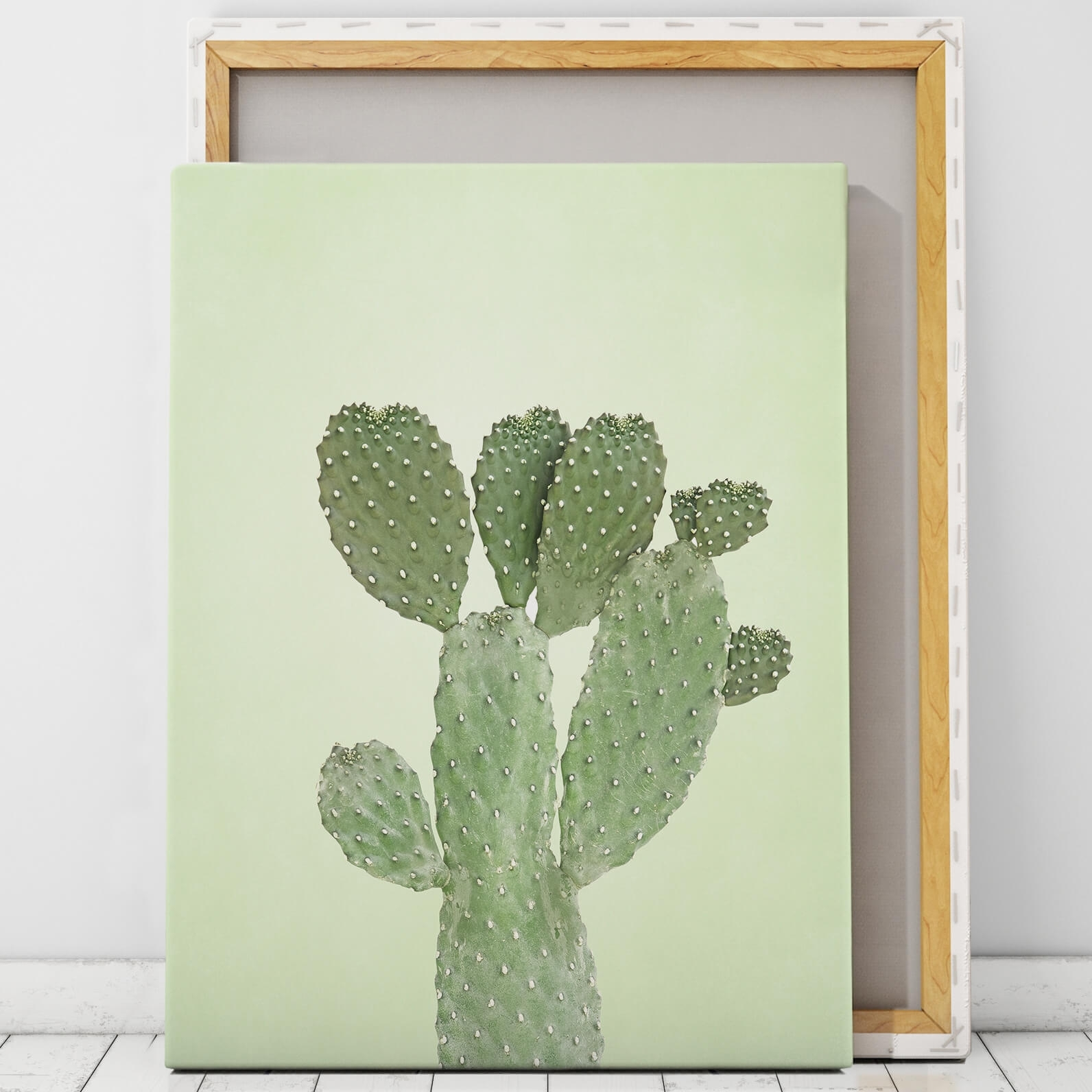 Green Cactus Wall Art Print | Artworld Art World Intended For Most Recent Cactus Wall Art (View 6 of 20)