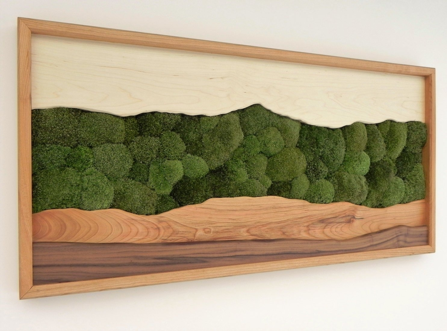 Green Mountain Moss Wall Art /sugar Maple, Cherry, Walnut, Preserved Regarding 2018 Moss Wall Art (Gallery 18 of 20)