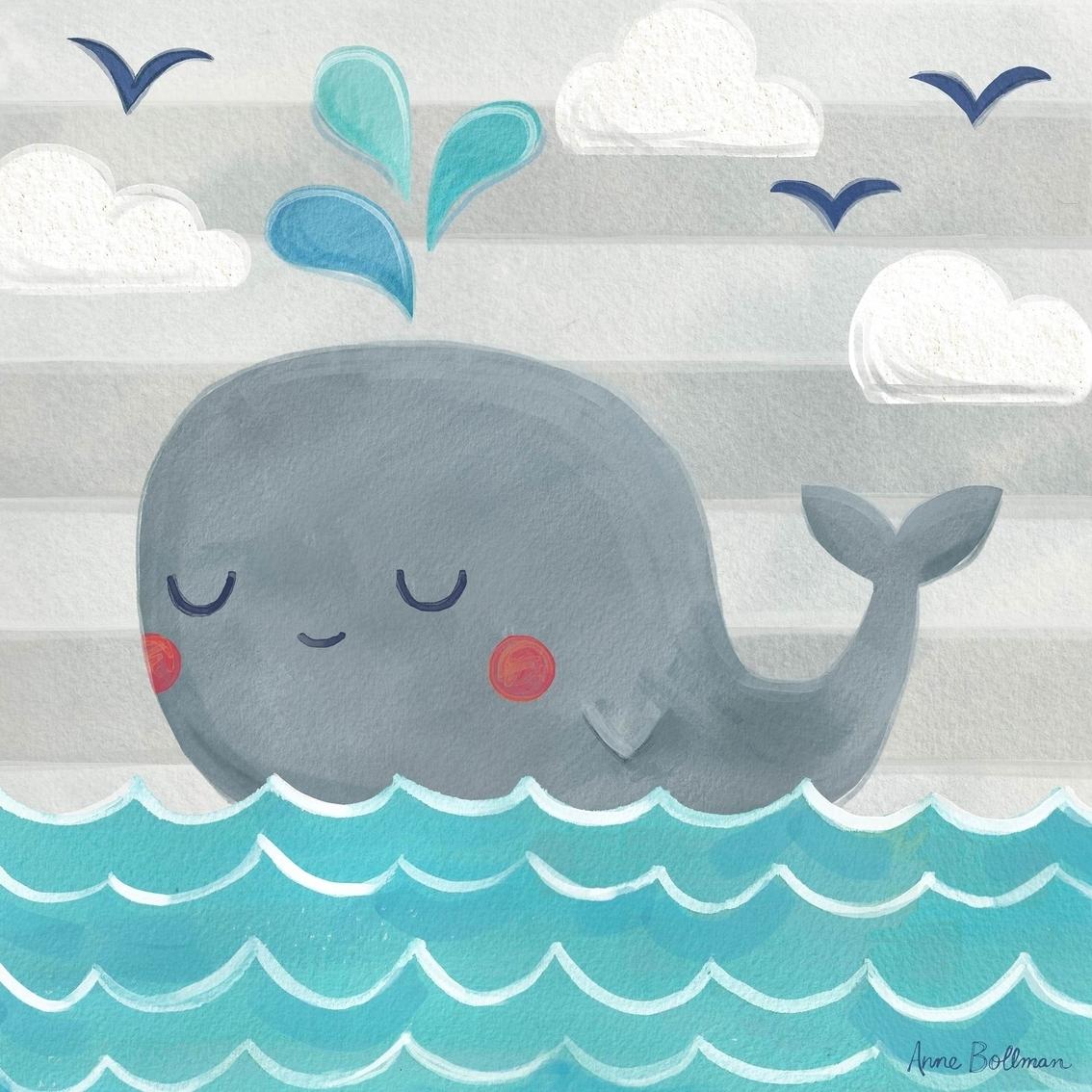 Greenbox Art 10 X 10 Let's Set Sail Whale Canvas Wall Art | Wall Intended For 2018 Whale Canvas Wall Art (View 10 of 20)