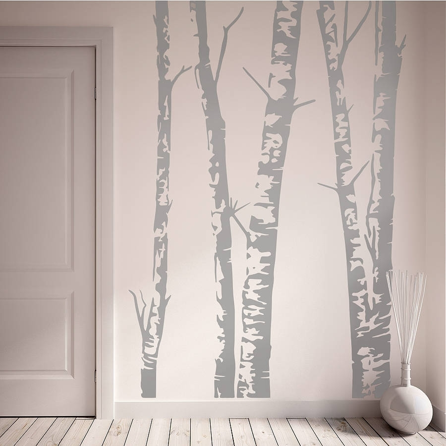 Grey Birch Tree Wall Art : Andrews Living Arts – Look Fresh And Throughout 2018 Birch Tree Wall Art (View 20 of 20)