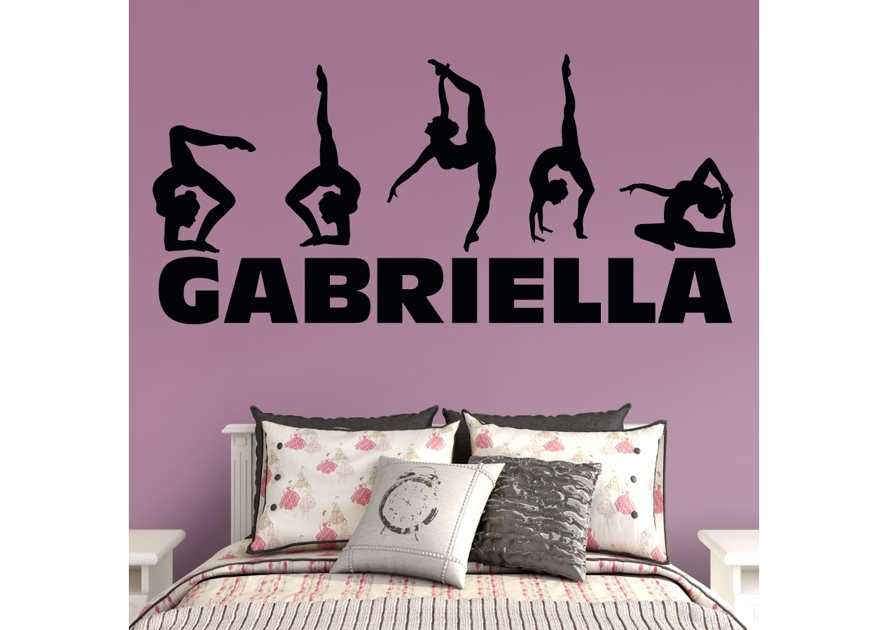 Gymnastics Personalized Name Wall Decal | Shop Fathead® For Wall Art Inside Newest Name Wall Art (Gallery 4 of 20)