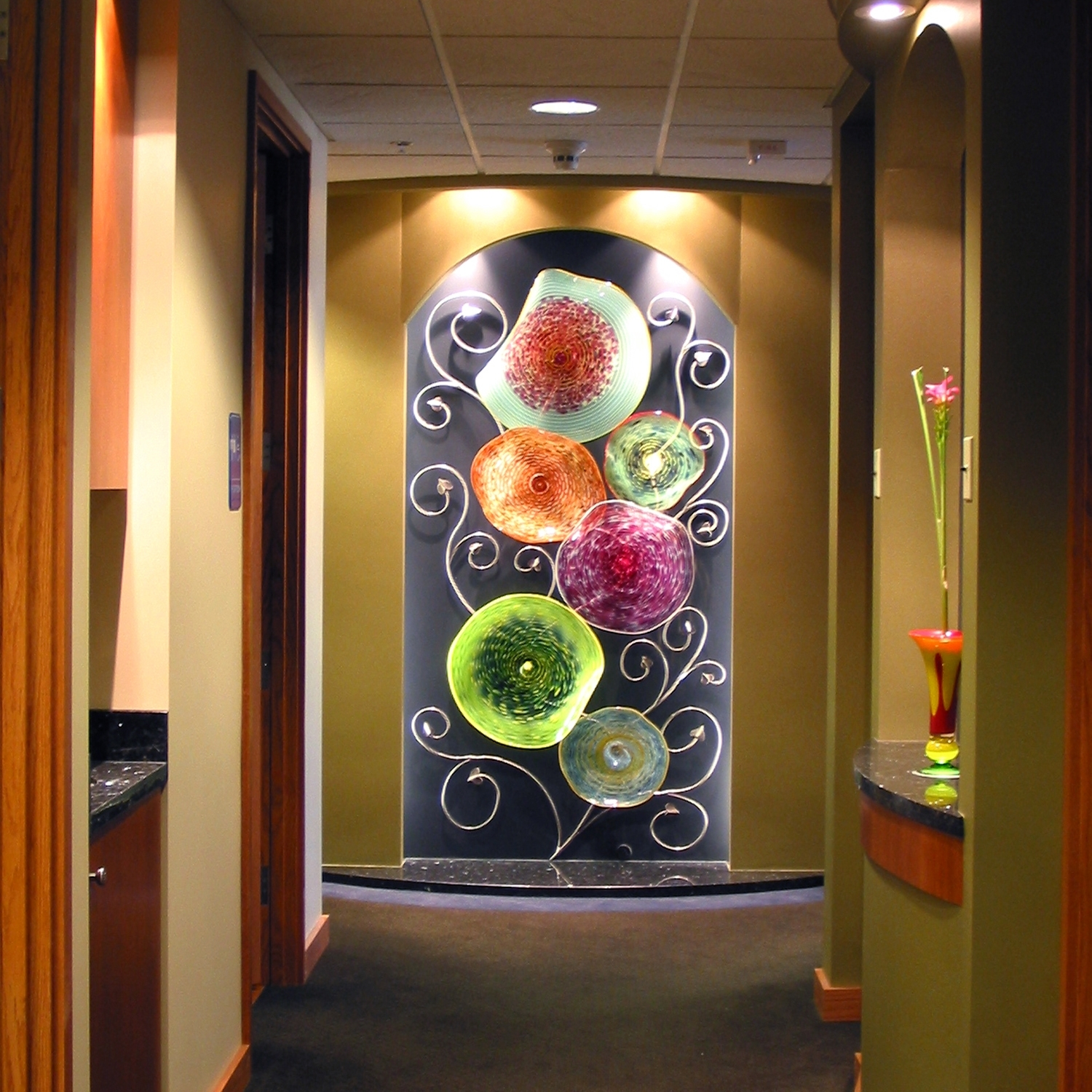 Hand Blown Glass Wall Art Sculpture | Artisan Crafted Home Intended For Current Glass Wall Art (View 9 of 15)