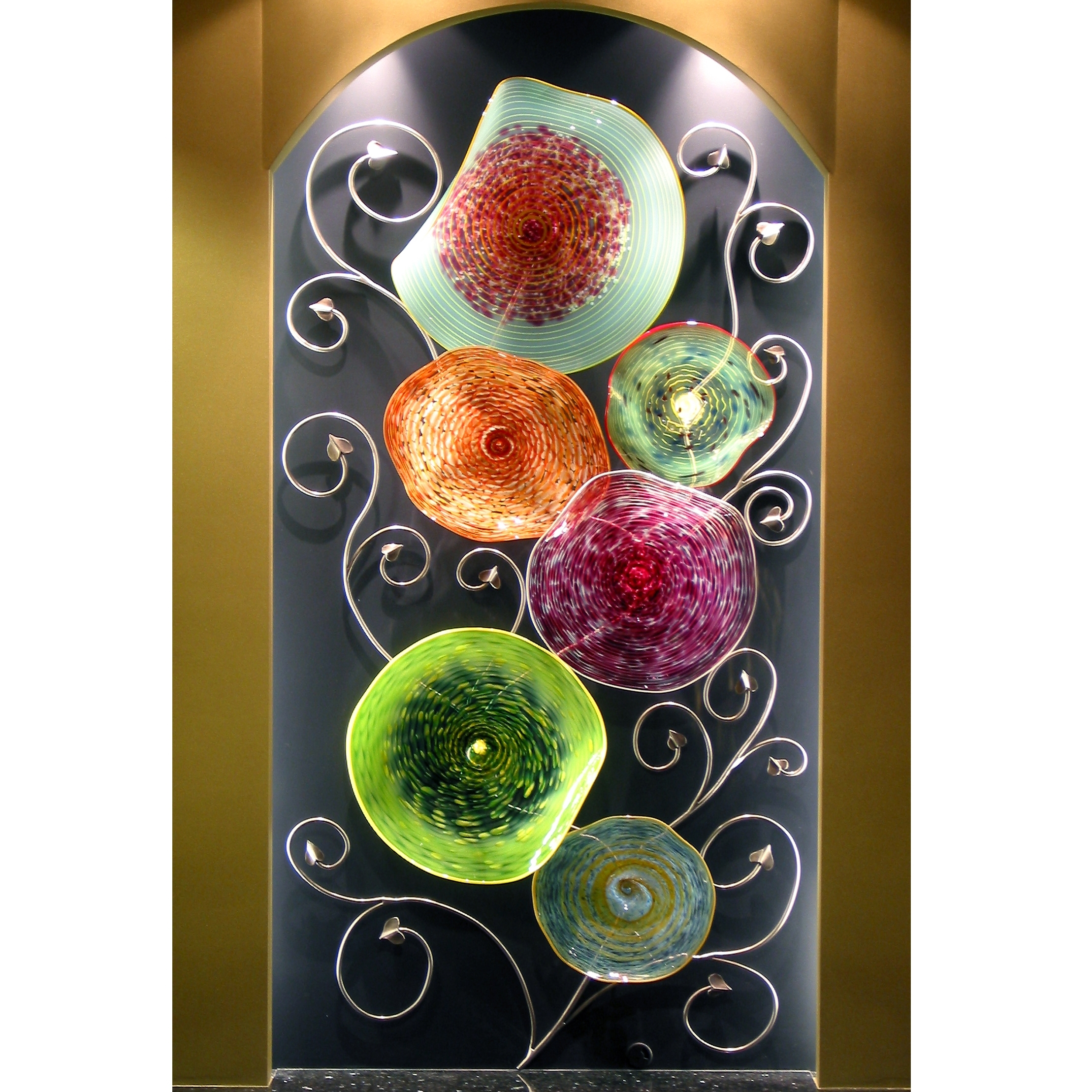Hand Blown Glass Wall Art Sculpture | Artisan Crafted Home Within Latest Blown Glass Wall Art (Gallery 10 of 20)