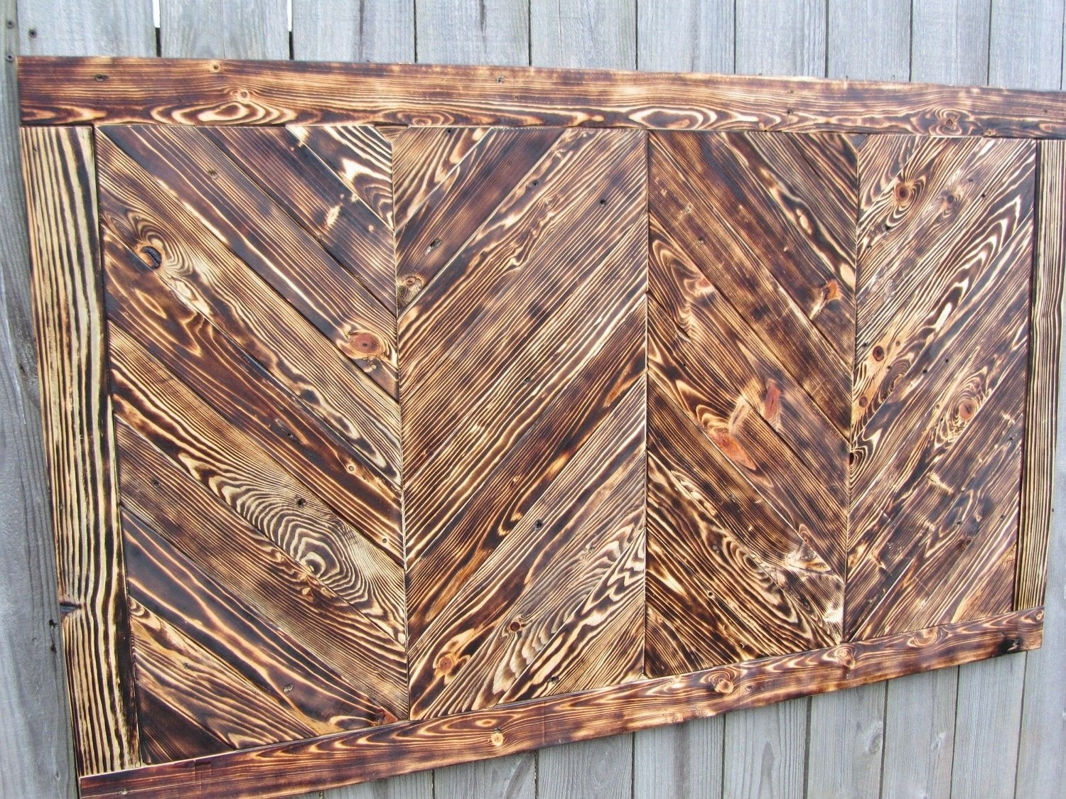 Hand Crafted Chevron Wood Wall Art Made From Reclaimed Pallet Wood With 2017 Personalized Wood Wall Art (Gallery 19 of 20)