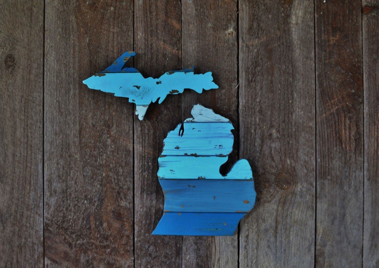 Hand Cut Wooden Michigan Wall Art: The Lelandthewoodnwall On Intended For Most Up To Date Michigan Wall Art (View 7 of 20)