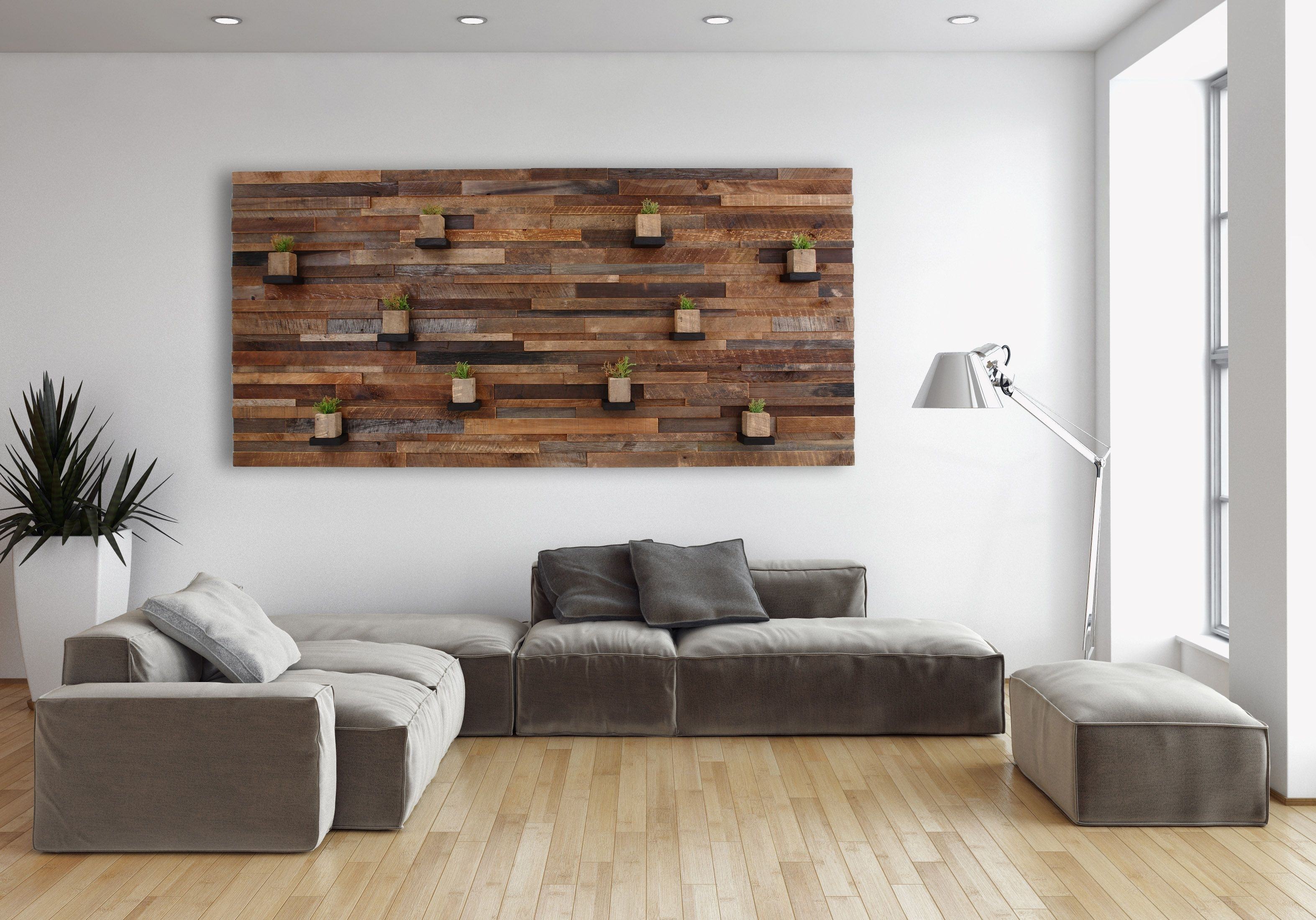Hand Made Wood Wall Art With Floating Wood Shelves 84 Regarding 2018 Personalized Wood Wall Art (View 9 of 20)