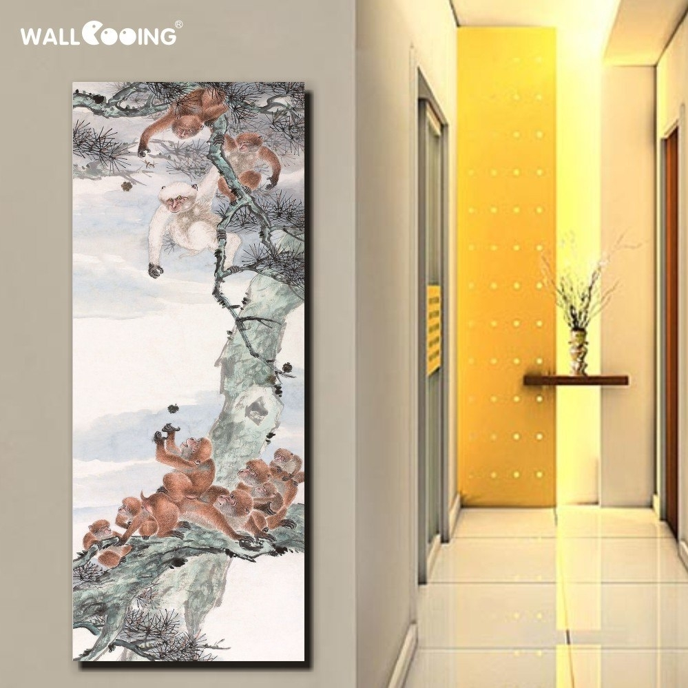 Hand Painted Canvas Painted Night Sky Lake Landscape Oriental With Most Recent Oriental Wall Art (Gallery 17 of 20)