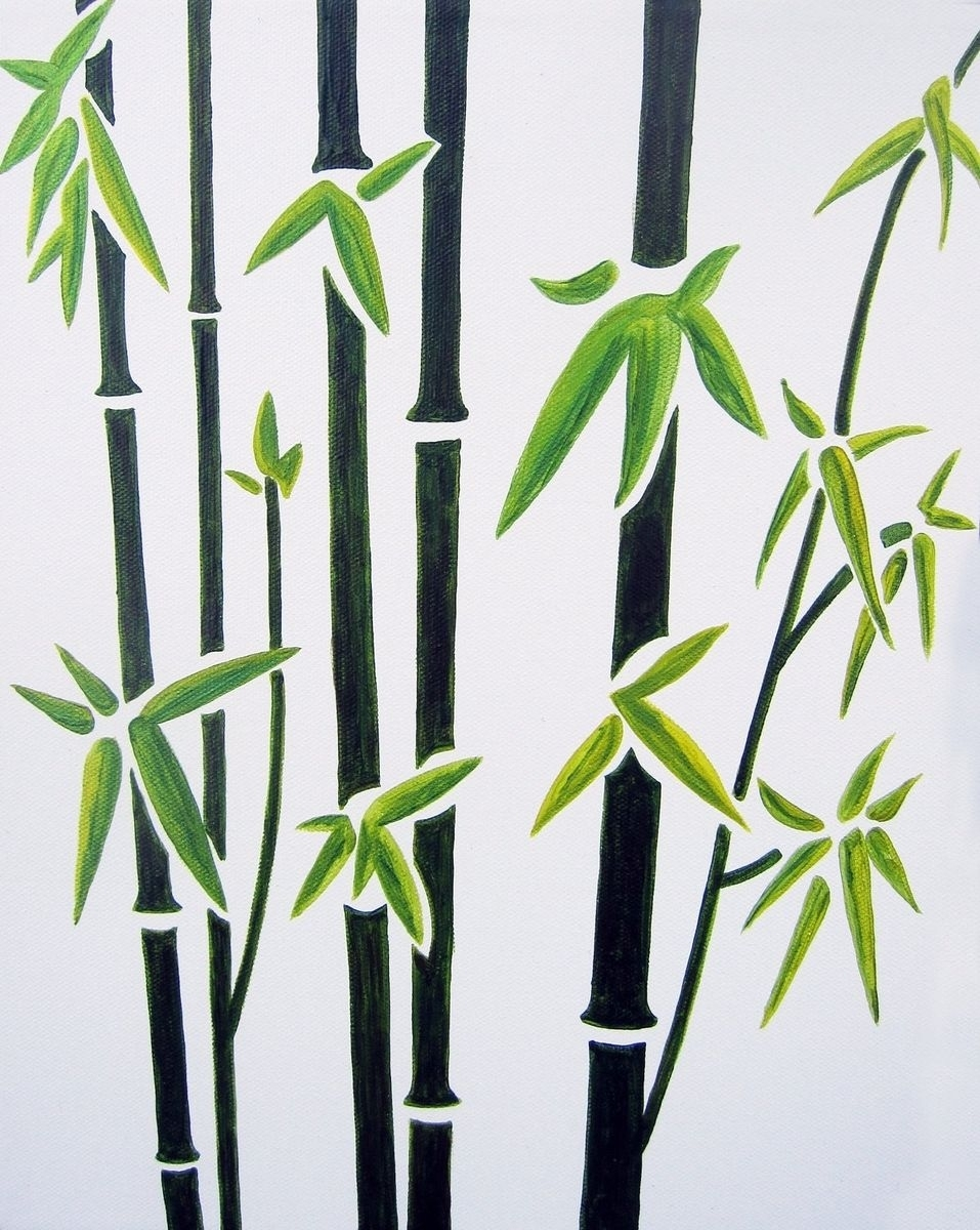 Handmade Bamboo Nursery Wall Art For Baby / Kids Room Decor (Not A Pertaining To Newest Bamboo Wall Art (Gallery 1 of 20)