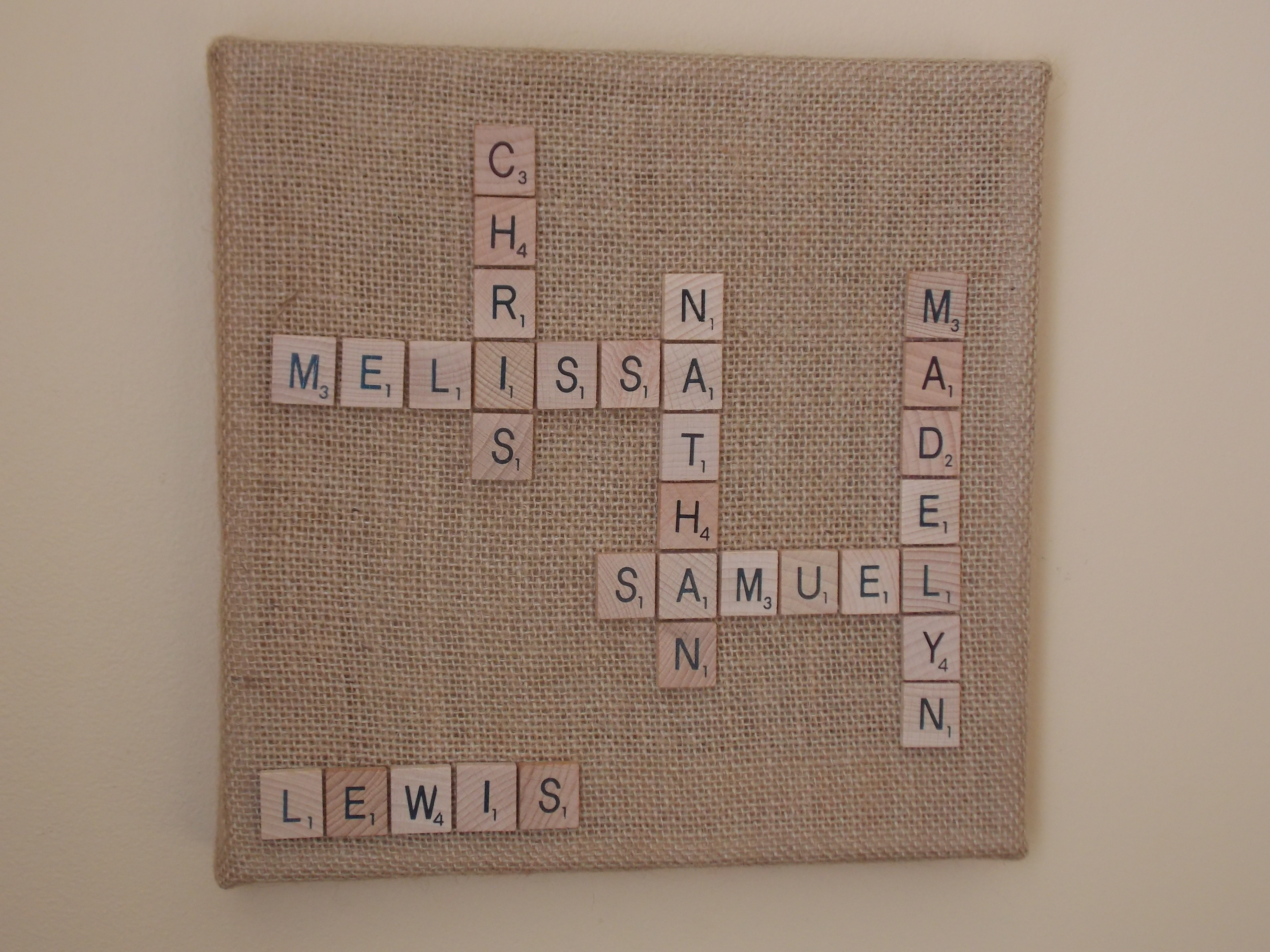 Handmade Christmas 2013: Scrabble Names Wall Art – Quiver Full Of With 2018 Family Name Wall Art (View 7 of 20)