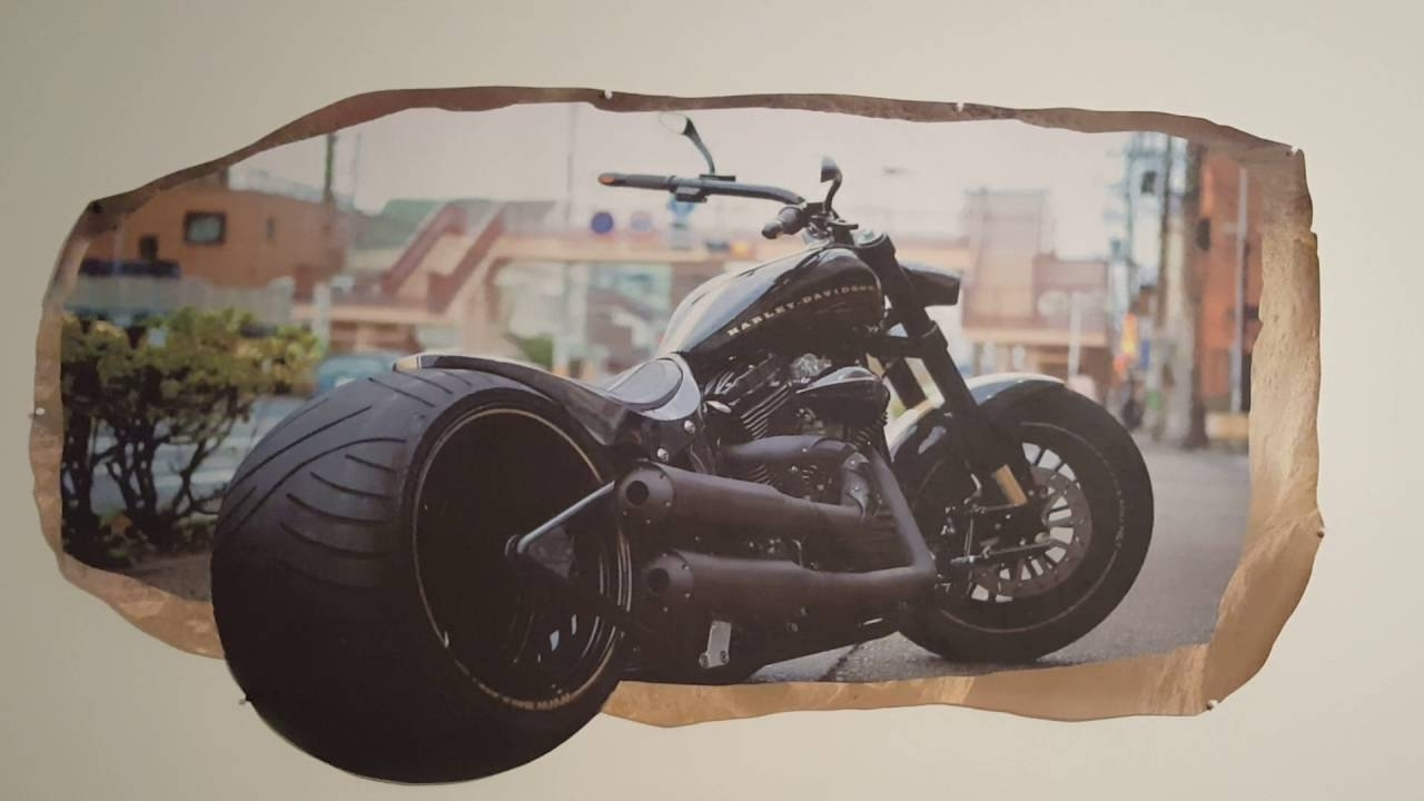 Harley Davidson 3D Mural Wall Artstartonight – Youtube Inside Current Harley Davidson Wall Art (Gallery 19 of 20)