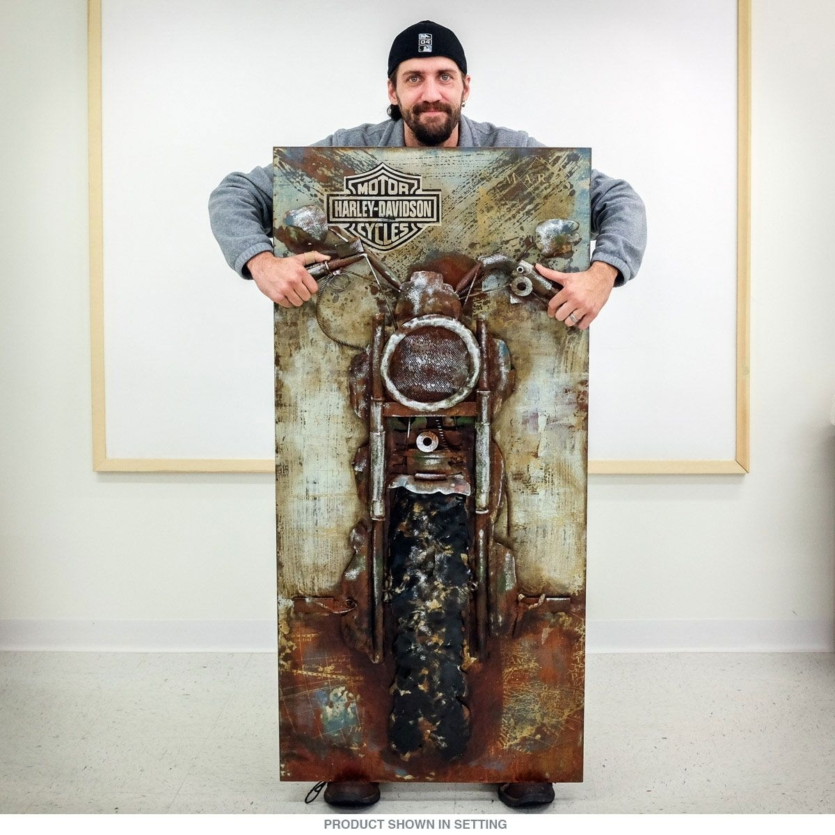 Harley Davidson Bike Repurposed Steel Wall Art | Pinterest | Man In 2017 Harley Davidson Wall Art (Gallery 14 of 20)