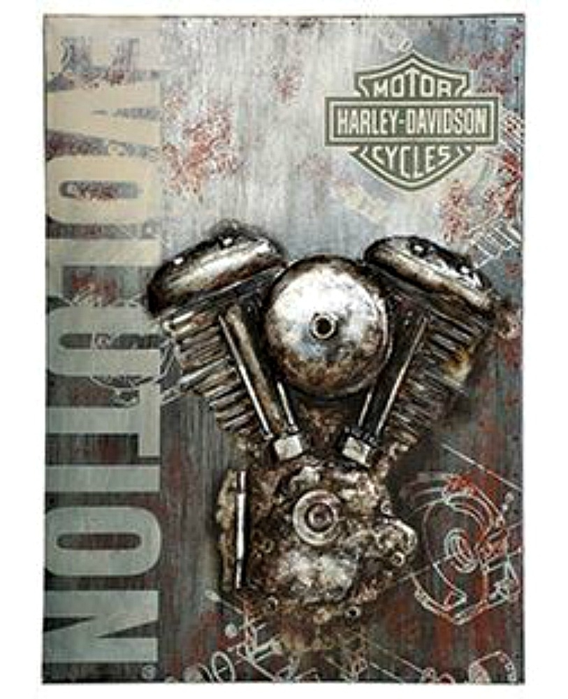 Harley Davidson® Evolution Motorcycle Metal Wall Art | 3 D Regarding 2017 Harley Davidson Wall Art (View 3 of 20)
