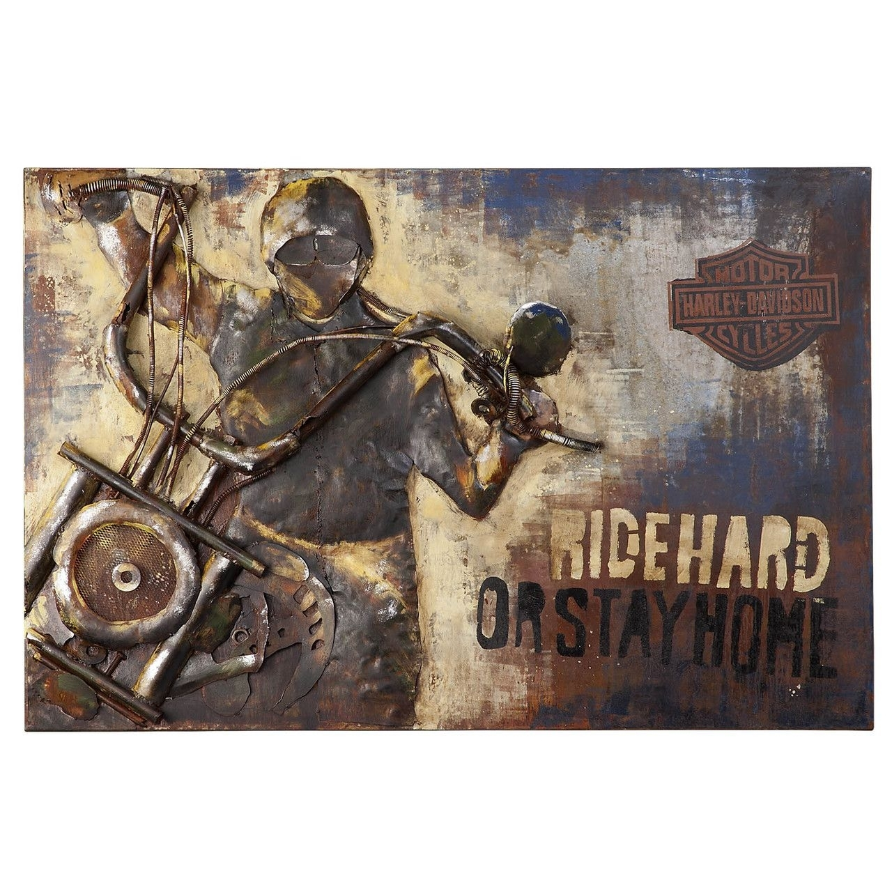 Harley Davidson Metal Wall Art Hdl 15508 | Harley Art | Pinterest In Most Recently Released Harley Davidson Wall Art (Gallery 6 of 20)