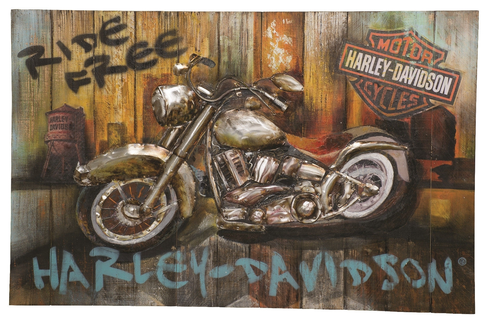 Harley Davidson® Ride Free Wall Art Hdl 15513 Inside Most Recent Harley Davidson Wall Art (View 17 of 20)