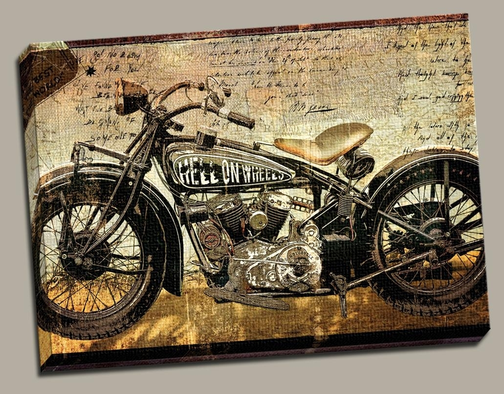 Harley Davidson Wall Art – Culturehoop Intended For Most Recently Released Harley Davidson Wall Art (Gallery 5 of 20)
