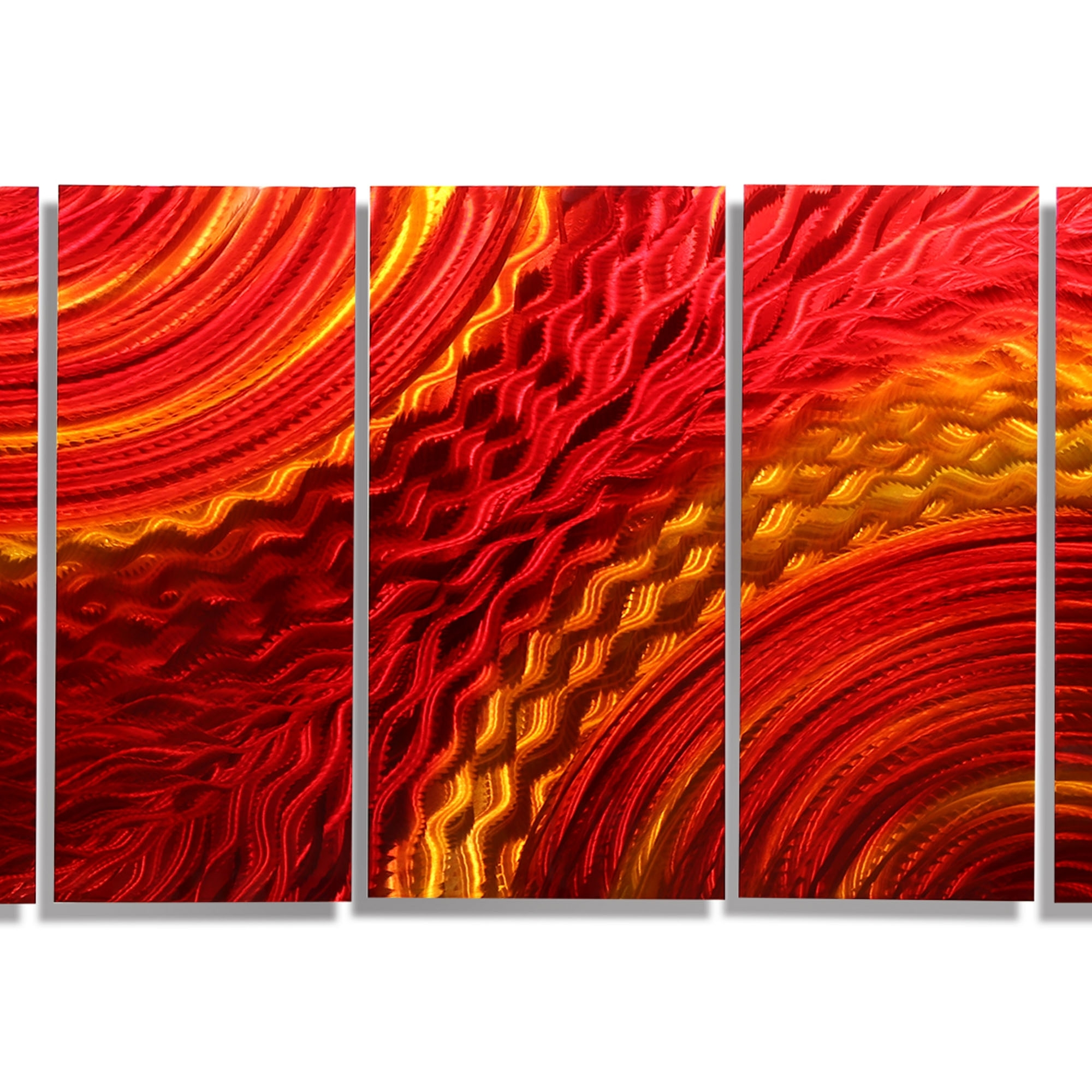 Harvest Moods – Dynamic Red & Gold Modern Metal Wall Sculpture Throughout 2017 Orange Wall Art (Gallery 20 of 20)