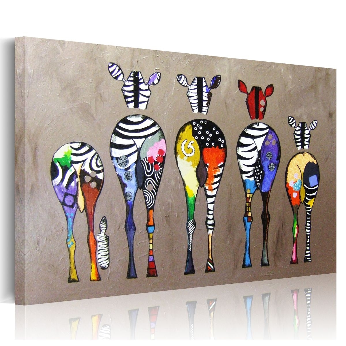 Hd Abstract Zebra Canvas Prints Paintings Wall Art Home Decor With Regard To 2018 Zebra Canvas Wall Art (View 12 of 20)