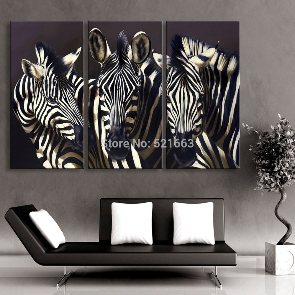 Hd Animal Canvas Art Print Painting Poster, Print Wall Pictures For Intended For Best And Newest Zebra Canvas Wall Art (View 10 of 20)