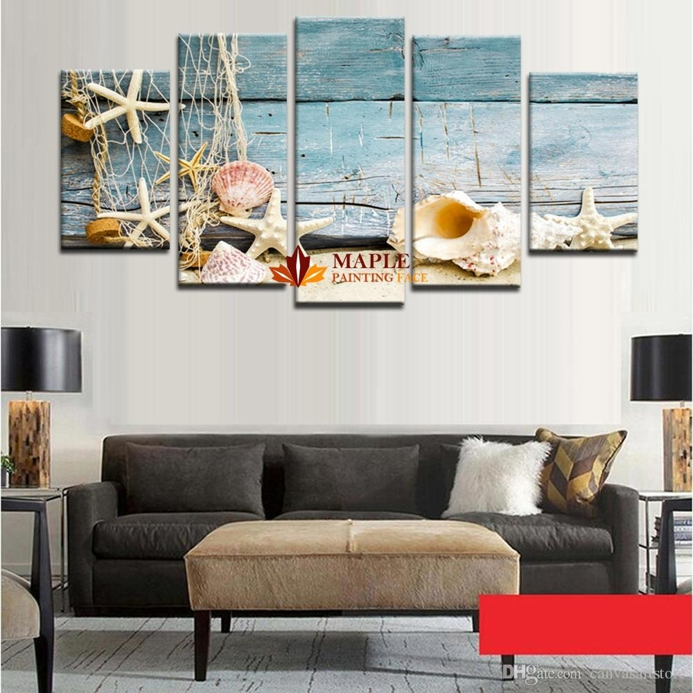 Hd Canvas Print Home Decor Wall Art Painting Picture Sea Shell For Most Popular Wall Art Cheap (View 6 of 20)