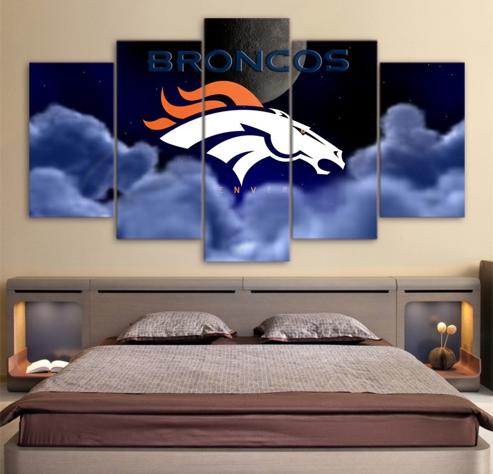 Hd Printed 5 Piece Wall Art Home Decor Painting Nrl Rugby Broncos With Most Current Broncos Wall Art (View 19 of 20)