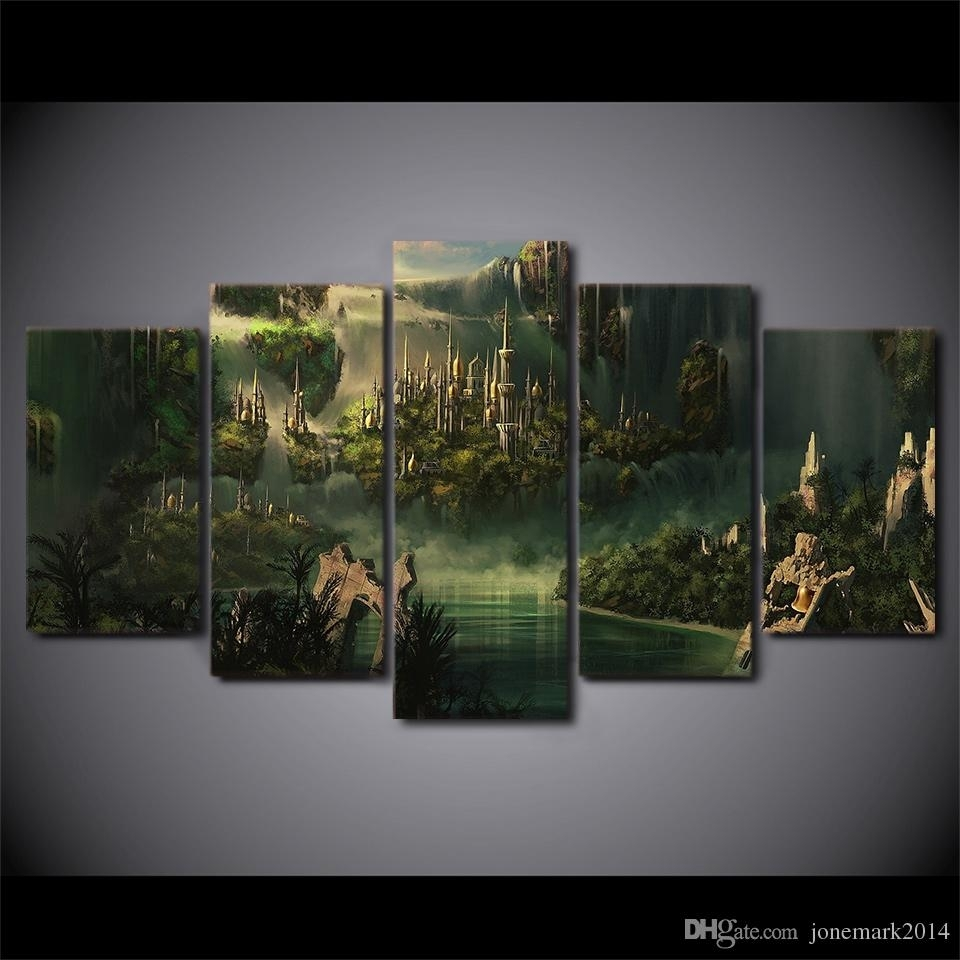 Hd Printed Canvas Art Lord Of The Rings Painting Mysterious Ancient With Most Up To Date Lord Of The Rings Wall Art (Gallery 6 of 20)