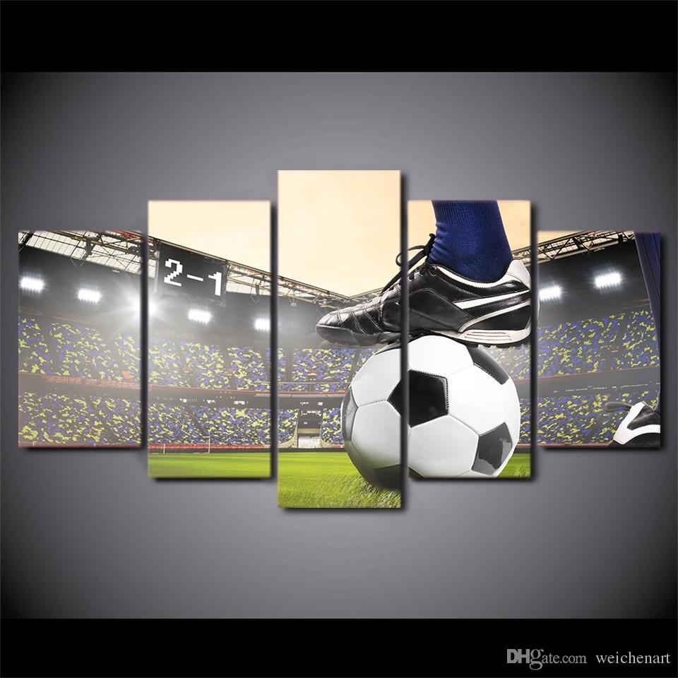 Hd Printed Canvas Art Soccer Match Painting Football Course Wall Throughout 2017 Soccer Wall Art (Gallery 1 of 20)