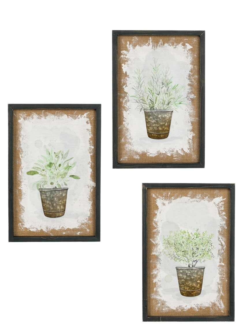 Herb Wall Art 3 Asst | Sullivans Intended For 2018 Herb Wall Art (View 6 of 20)