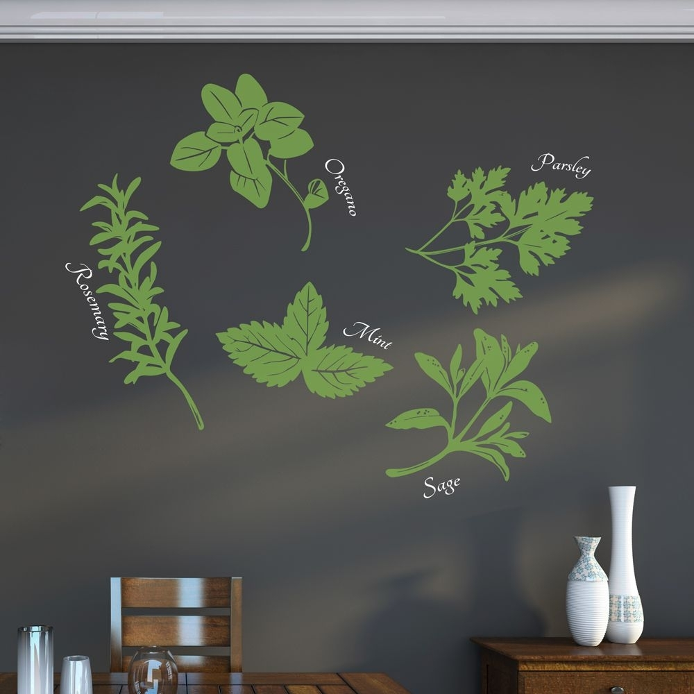 Herbs Wall Art Decal | Pinterest | Herb Wall, Wall Art Decal And Herbs Intended For Most Popular Herb Wall Art (View 2 of 20)