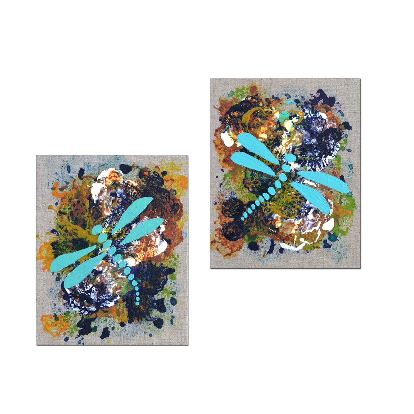 Home Decor Art: The Versatility Of Diptych Paintings With Regard To Recent Dragonfly Painting Wall Art (View 15 of 20)